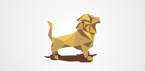 origami lion logo