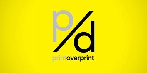 print overprint design blog logo