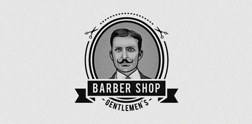 Barber Apparel : Barbershop Logo Design Gentlemens barber shop logo