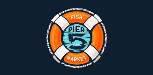Pier 5 Fish Market – full lockup