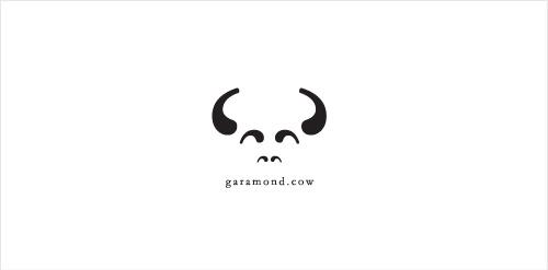 garamond cow