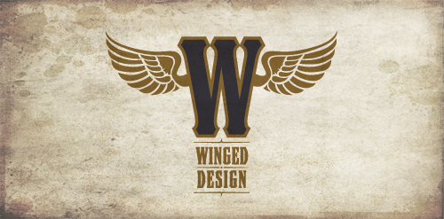 winged design