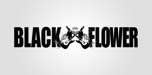 Black Flower Bar Logo