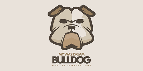 My Way Dream Bulldog logo • LogoMoose