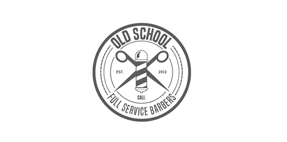 Old School – Barber Shop Logo