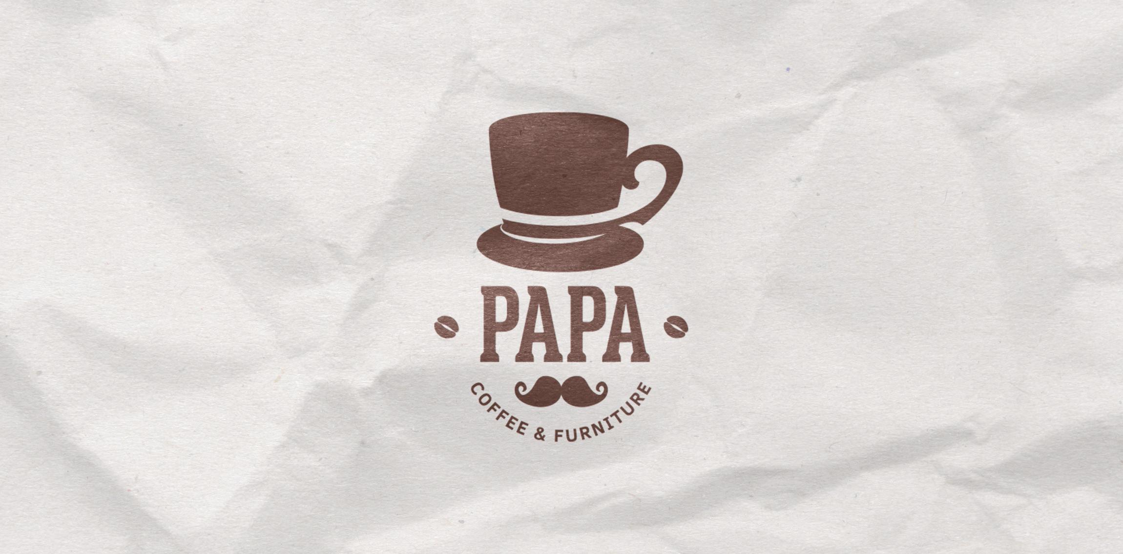 Papa Coffee and Furniture LogoMoose Logo Inspiration