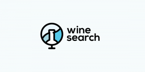 wine search stock logo