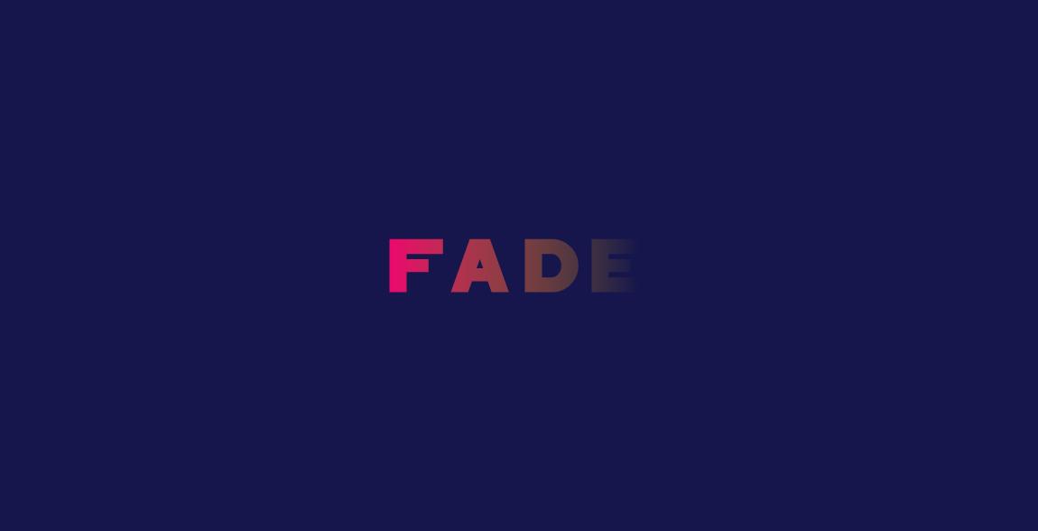 Fade Wordmark / Verbicons