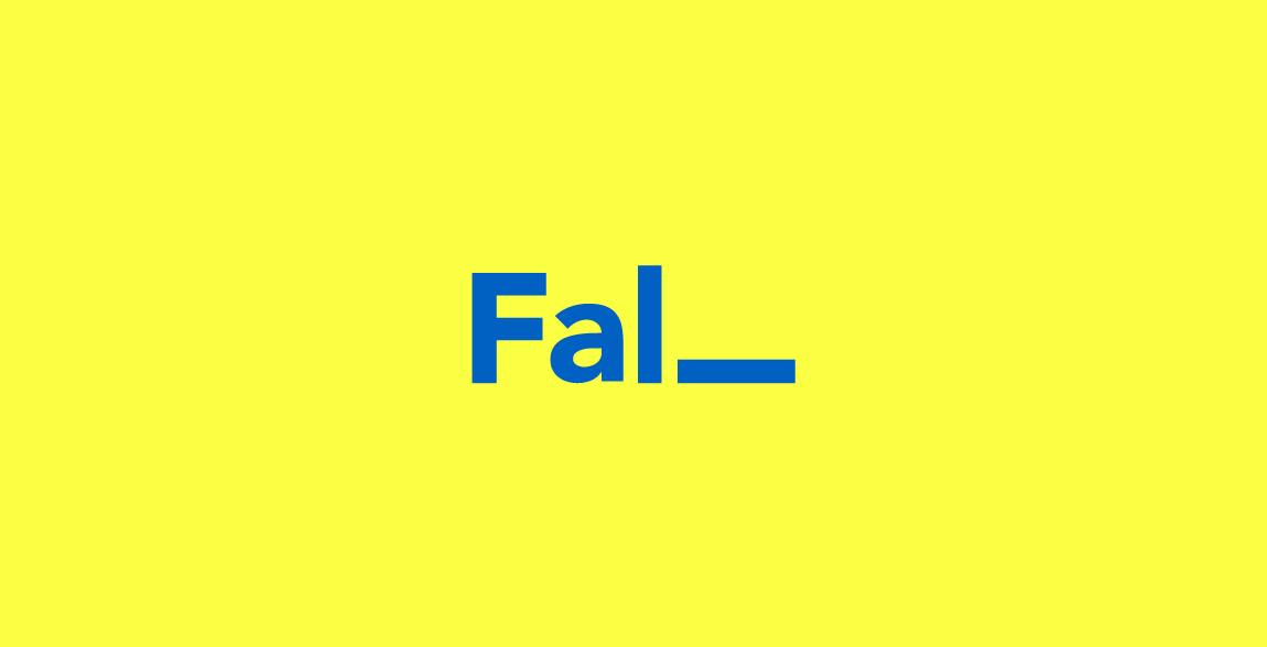 Fall Wordmark / Verbicons