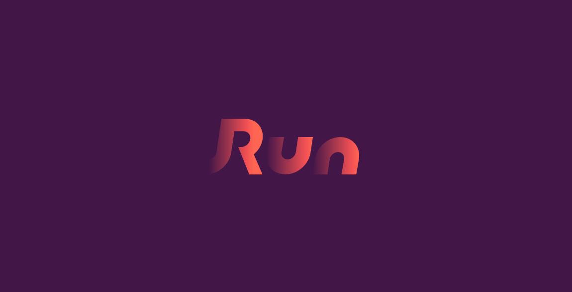 Run Wordmark / Verbicons
