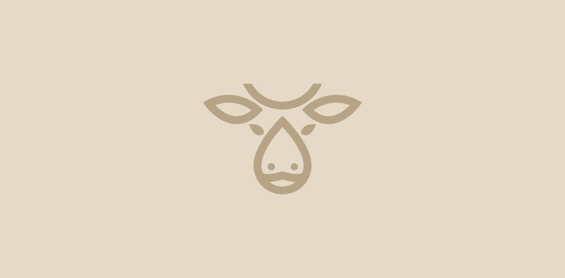 Cow and Milk Logo