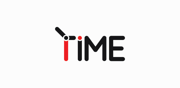 Time Typography Logo